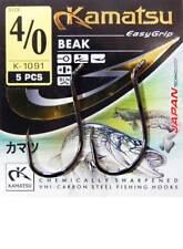 Kamatsu Beak Strong Carbon Steel Cat Fish Pike Eyed All Sizes 4/0-10/0 Hooks