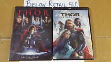 THOR + THOR: THE DARK WORLD (DVD)(Both  Complete Set 1 & 2  NEW Avengers Marvel