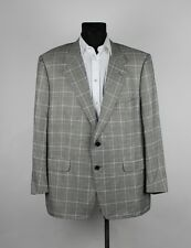 Corneliani Men Bamboo Multicolored Jacket Blazer Size 28, Genuine