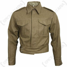 Button Woolen Waist Length Military Coats & Jackets for Men