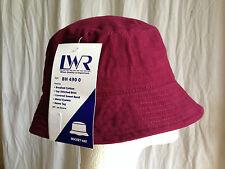 BNWT Boys or Girls Maroon LW Reid Sz S 55cm School Uniform Bucket Hat UPF 50+