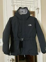 The North Face Hyvent 550 Down Belted Jacket Black Parka Hood.Girls XL-18