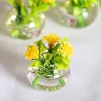 1:12 Dollhouse Miniature Simulation Hydroponic Glass Plant Potted Flower AU