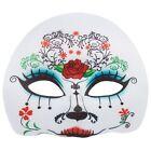 Día De Los Muertos Halloween Azúcar Esqueleto Máscara Disfraz Mujer Lujo