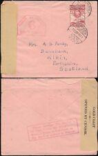 GOLD Coast achimota WW2 censurare 6 per la Scozia.. posta + Boxed consulenza in Rosso