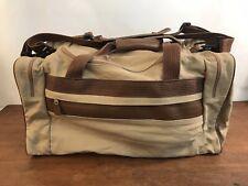 Eddie Bauer FORD Large Tan Canvas Duffel Carry On Bag (B1)