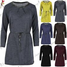 Round Neck Dresses for Women with Belt Mini