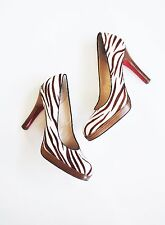 Anthropologie Shoes OH DEER! BETTE PUMPS Calf Hair Animal Print High Heels 8