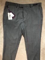 """TED BAKER GREY """"GATHERT"""" STERLING CHECK TROUSERS PANTS CHINOS - 38 S - NEW TAGS"""
