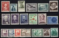 PP135018/ AUSTRIA STAMPS – YEARS 1951 - 1957 MINT MNH / MH – CV 193 $