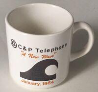 "C&P Telephone ""A New Wave"" January, 1984 Advertising Coffee Mug / Tea Cup EUC"