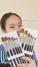 Artist Paint Brushes 2sets Kolinsky Sable Wood Handle Oil Acrylic Watercolor