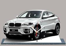VOITURE , BMW X6 Blanc-02  en HORLOGE MINIATURE