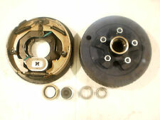 "Trailer Repair Replace Brakes Basic Kit 5 x 4.5 Drum 10"" Backing Plate Left Only"
