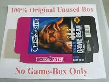 Chessmaster, 100% Original Unused Box Only, Sega Game Gear
