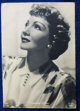 CINEMA - FOTO CARD - CLAUDETTE COLBERT