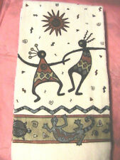 1 whole DANCING KOKOPELLI~lizard KITCHEN~BATH~SHOP~COTTAGE quality HAND TOWEL