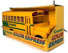 Vintage Crayola Color Express School Bus with Crayons and Sharpener
