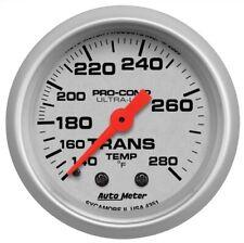 """Auto Meter 4351 2-1/16"""" Ultra-Lite Mechanical Trans Temp Gauge 140-280 °F NEW"""
