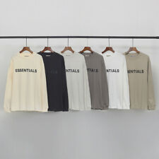 Fear of God Front 3D Silicon Essentials Long Sleeve Tee FOG Men Women T shirt