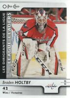 2017-18 O-Pee-Chee Hockey #592 Braden Holtby LL Washington Capitals