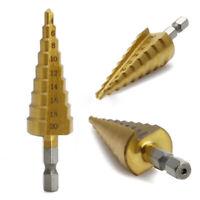 4-20mm Step Cone Drill Titanium Steel Metal Hole Cutter Bit  Dent Tool Hex Shank