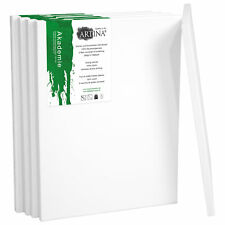 Artina 5 Set Academy Blank Canvases Flat Artist Canvas 20 X 20cm - 8 X 8 Inch