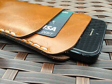 Genuine Real Leather Luxury Vintage Brown Pouch Wallet Case for Iphone 5/5s/5c
