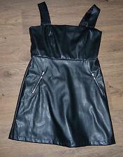 Black Faux leather little black dress size 12 was £24-99