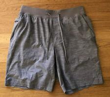 """Lululemon Men's THE Shorts 9"""" Liner Large Heather Allover Sea Salt Light Cast"""