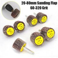 Flap Wheel Disc Shaft Mounted Abrasive Sanding Drill 25mm 80Grit 10PK AT092
