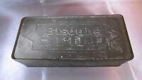ancienne boite metal biscuits brun années 52