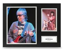 Bill Wyman Signed 16x12 Photo Display Rolling Stones Autograph Memorabilia + COA