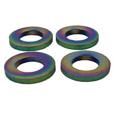 4 Pieces M6 Colorful Titanium M6 Flat Bolt Washer Bicyle BMX Bike MTB Ti-6Al-4V