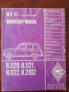 RENAULT R1120 ORIGINAL FRENCH WORKSHOP MANUAL with many illustrations