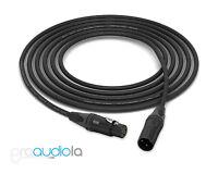 Mogami 2552 Cable | Neutrik Gold XLR-F XLR-M | Black 10 Feet | 10 Ft. | 10'