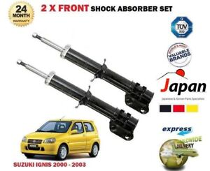 FOR SUZUKI IGNIS 1.3 + 4WD 2000-2003 2x FRONT LEFT + RIGHT SHOCK ABSORBER SET