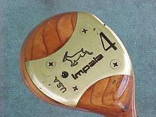 Lynx Impala Made USA Golf Club Refinished 4 wood w Brass & New Tour Wrap Grip