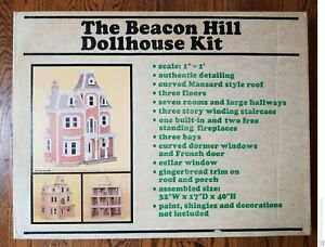"""Vintage """"Beacon Hill"""" Wooden Dollhouse Kit by Greenleaf DS-2 (#8002) New in OBs!"""