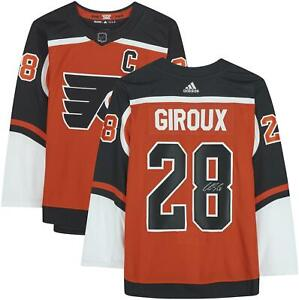 Claude Giroux Philadelphia Flyers Signed Orange 2020-21 Reverse Authentic Jersey