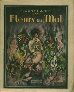 Livre Baudelaire les fleurs du mal aquarelles de Laboccetta 1947 book