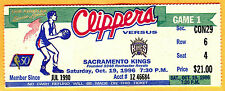 BEAUTIFUL! 10/19/96 CLIPPERS OPENING DAY/GAME #1 TICKET STUB VS. SAC KINGS