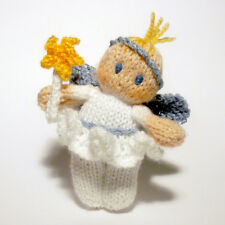 Christmas Fairy Bitsy Baby knitting Pattern, a quick yarn stash knit