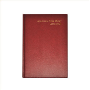 Academic Diary 2020-2021 A5 Week to View Burgundy Planner Book July-July Journal