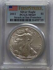 2011 American Eagle 1 Oz Silver PCGS MS69 First Strike Eagle San Francisco Mint