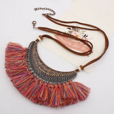 Woemn Fashion Hollow Out Crescent Pendant Bohemia Tassel Necklace Jewelry Hot