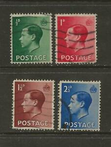 GREAT BRITAIN - USED KING EDWARD VIII STAMPS - SCOTT 230-233 - A48