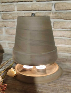 Teelichtofen Teelichtheizung Heizung 25 x 18cm Basaltbraun 10 Teelichter Gratis