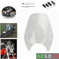 Motorcycle WindScreen Windshield Kit For Honda Shadow 750 VT750 1998-2003 Clear