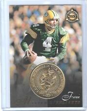 RARE 1998 PINNACLE MINT BRETT FAVRE GOLD PLATED COIN & CARD 21 GREEN BAY PACKERS